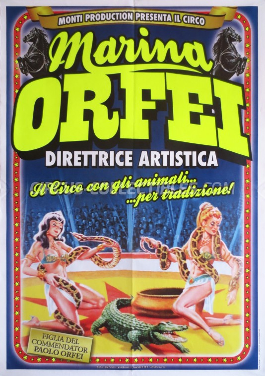 Marina Orfei Circus Poster - Italy, 2013