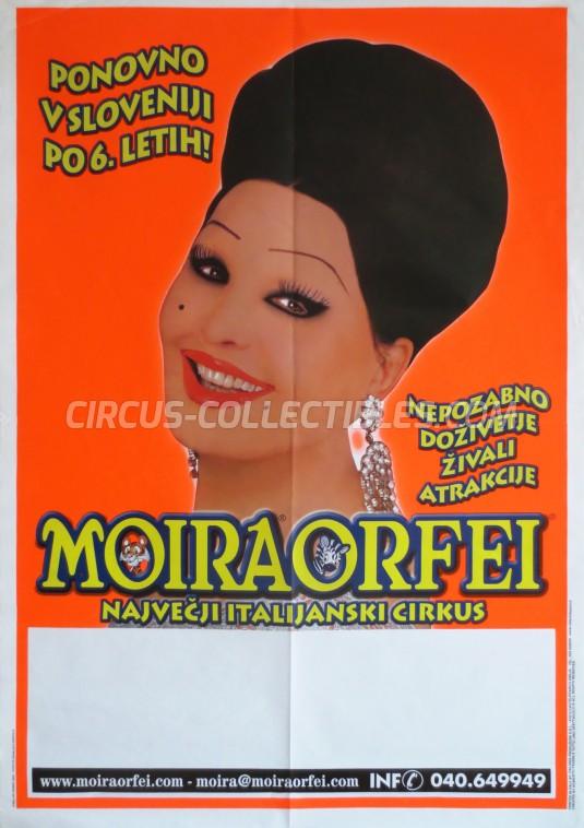 Moira Orfei Circus Poster - Italy, 2004