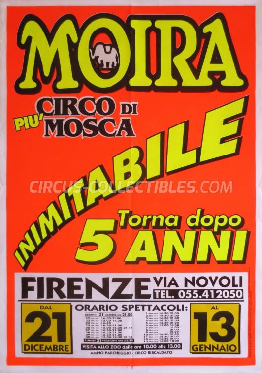 Moira Orfei Circus Poster - Italy, 2001