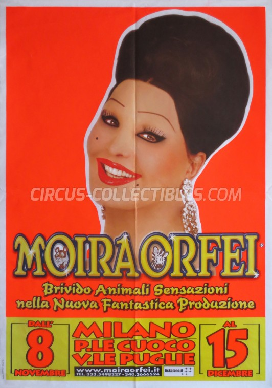 Moira Orfei Circus Poster - Italy, 2013