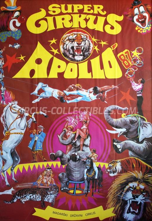 Apollo (HU) Circus Poster - Hungary, 1987