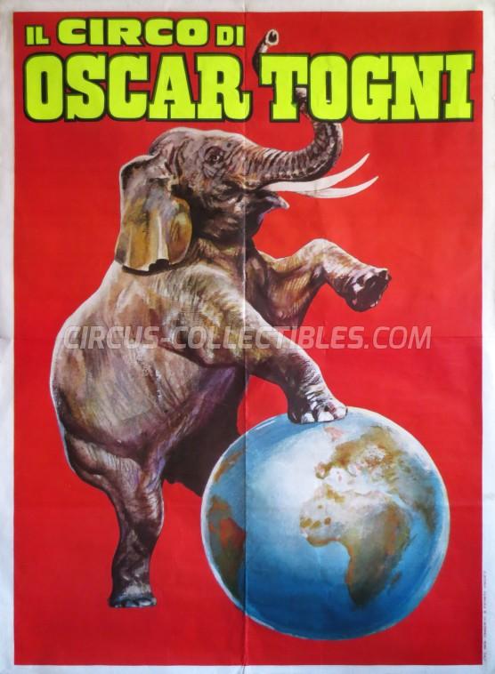Oscar Togni Circus Poster - Italy, 0