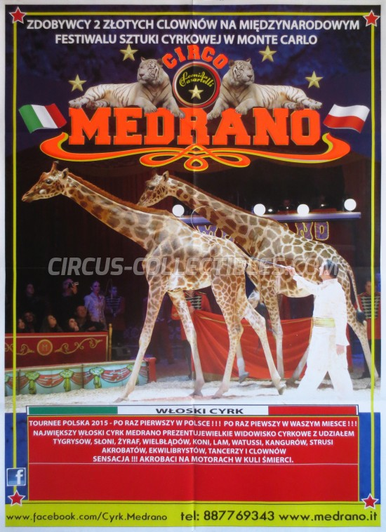 Medrano (Casartelli) Circus Poster - Italy, 2015