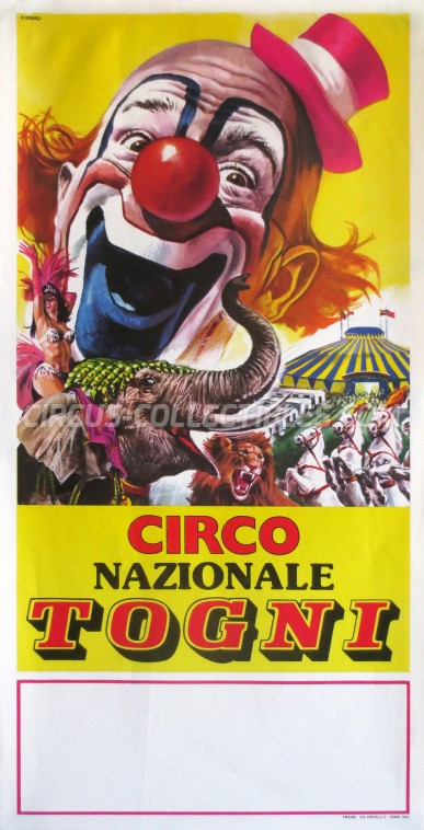 Togni Circus Poster - Italy, 1983