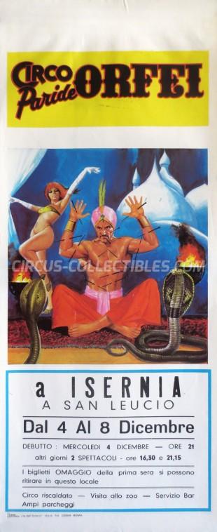 Paride Orfei Circus Poster - Italy, 1985
