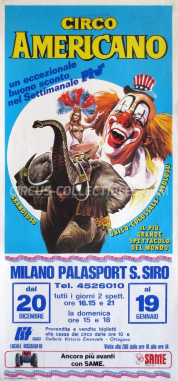 American Circus Circus Poster - Italy, 1985