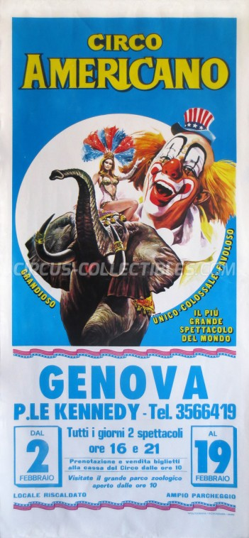 American Circus Circus Poster - Italy, 1989