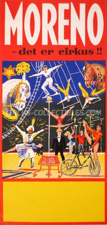 Moreno Circus Poster - Denmark, 1962