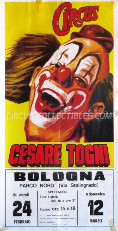 Cesare Togni Circus Poster - Italy, 1989