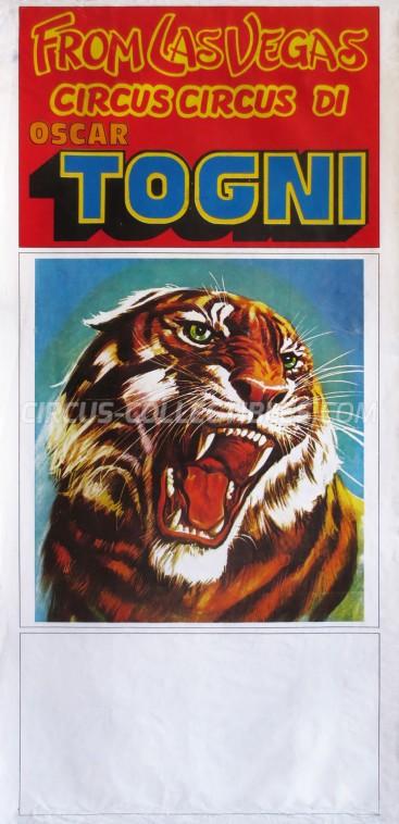 Oscar Togni Circus Poster - Italy, 1983