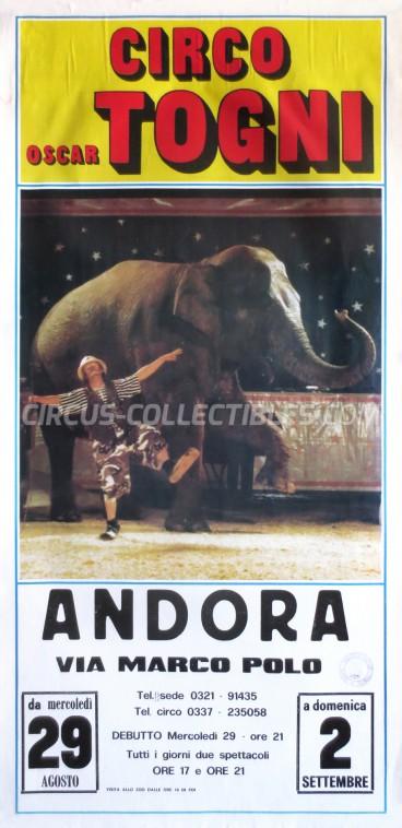 Oscar Togni Circus Poster - Italy, 1990