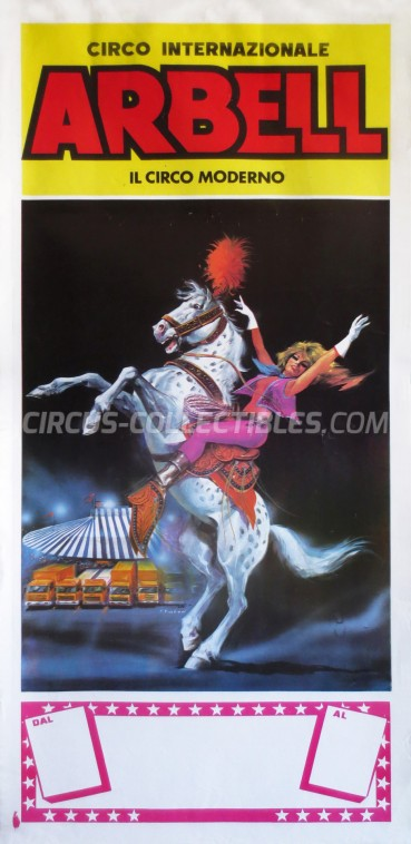 Arbell Circus Poster - Italy, 1989