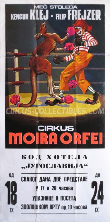 Moira Orfei Circus Poster - Italy, 1977
