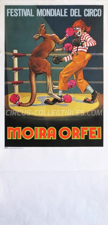 Moira Orfei Circus Poster - Italy, 1981