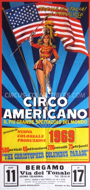 American Circus Circus Poster - Italy, 1969