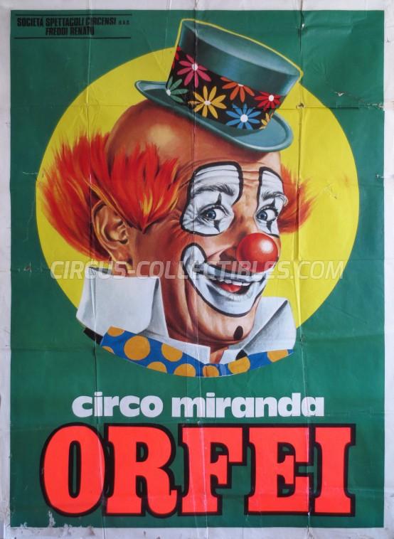 Miranda Orfei Circus Poster - Italy, 1975