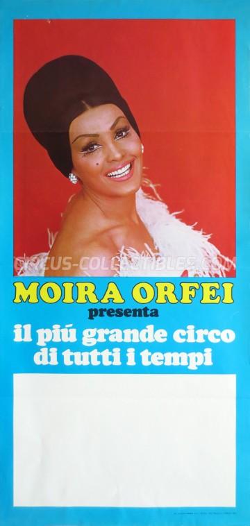 Moira Orfei Circus Poster - Italy, 1979