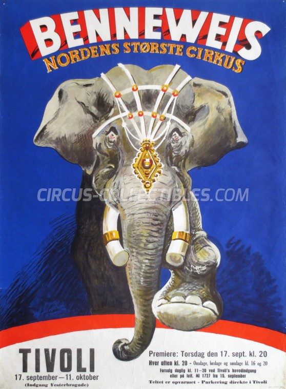 Benneweis Circus Poster - Denmark, 1963