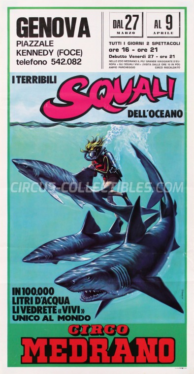 Medrano (Casartelli) Circus Poster - Italy, 1981