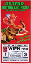 Österreichischer Nationalcircus Elfi Althoff-Jacobi Circus poster - Austria, 1989