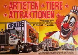 Artisten-Tiere-Attraktionen 84 Circus poster - Austria, 1984