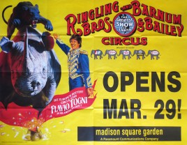 Ringling Bros. and Barnum & Bailey Circus Circus poster - USA, 1990