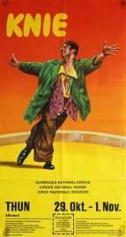Circus Knie Circus poster - Switzerland, 1976