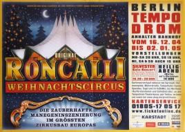 Original Roncalli Weihnachtscircus Circus poster - Germany, 2004