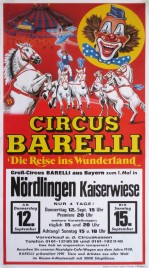 Circus Barelli Circus poster - Germany, 1991