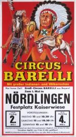 Circus Barelli Circus poster - Germany, 1990