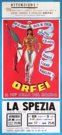 Nando, Liana, Rinaldo Orfei Circus poster - Italy, 1968
