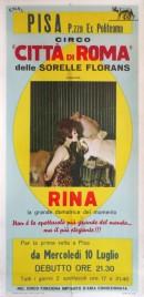 Circo Citta' di Roma Circus poster - Italy, 1968