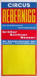 Circus Rudi Rebernigg Circus poster - Austria, 1971
