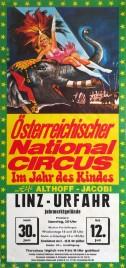 Österreichischer Nationalcircus Elfi Althoff-Jacobi Circus poster - Austria, 1973