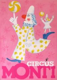 Circus Monti Circus poster - Switzerland, 1988