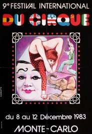 9e Festival International du Cirque de Monte-Carlo Circus poster - Monaco, 1983