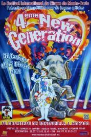 4eme New Generation Circus poster - Monaco, 2015