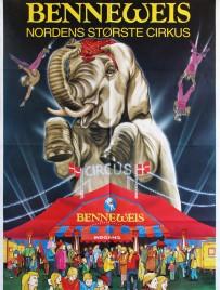 Benneweis - Nordens Største Cirkus Circus poster - Denmark, 1994