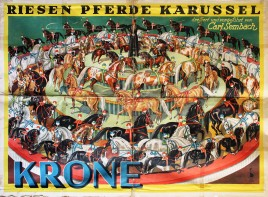 Circus Krone - Riesen Pferde Karussel Circus poster - Germany, 1940