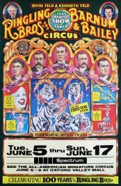 Ringling Bros. and Barnum & Bailey Circus Circus poster - USA, 1984
