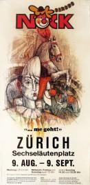 Circus Nock Circus poster - Switzerland, 1984