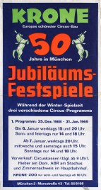 Circus Krone Circus poster - Germany, 1968