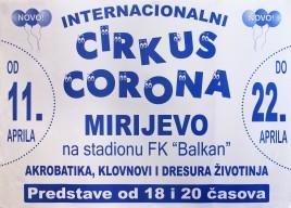 Internacionalni Cirkus Corona Circus poster - Serbia, 2013