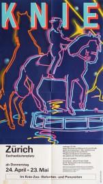 Circus Knie Circus poster - Switzerland, 1986