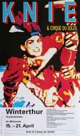 Circus Knie & Cirque du Soleil Circus poster - Switzerland, 1992