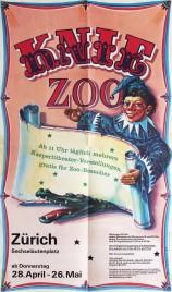 Knie ZOO Circus poster - Switzerland, 1983