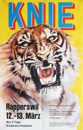 Circus Knie Circus poster - Switzerland, 1977
