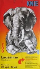 Circus Knie Circus poster - Switzerland, 1979