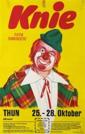 Circus Knie Circus poster - Switzerland, 1974