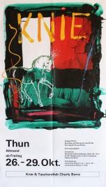 Circus Knie Circus poster - Switzerland, 1990